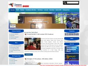 Universitas Setia Budi Surakarta Screenshot