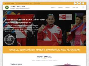 Universitas Veteran Bangun Nusantara's Website Screenshot