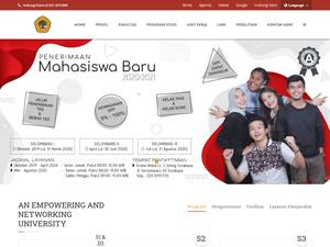 17 August 1945 University, Surabaya's Website Screenshot