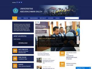 Universitas Abdurachman Saleh's Website Screenshot