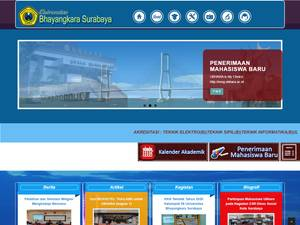 Universitas Bhayangkara Surabaya's Website Screenshot