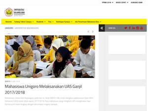 Universitas Bojonegoro's Website Screenshot