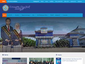 Universitas Hang Tuah's Website Screenshot