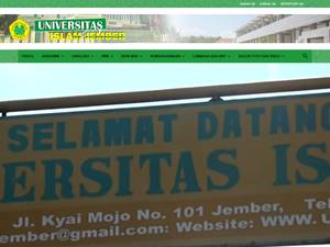 Universitas Islam Jember's Website Screenshot