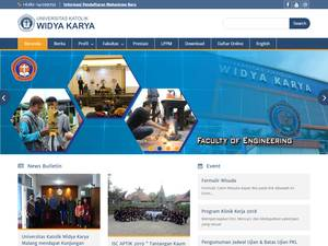 Universitas Katolik Widya Karya's Website Screenshot
