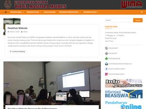 Universitas Katolik Widya Mandala Madiun Screenshot