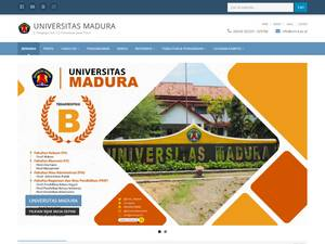 Universitas Madura's Website Screenshot