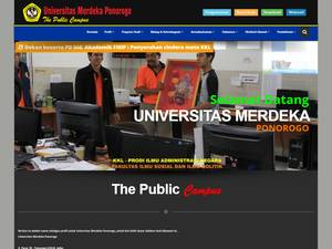 Universitas Merdeka Ponorogo's Website Screenshot