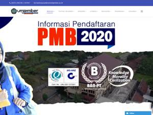 Universitas Muhammadiyah Jember's Website Screenshot