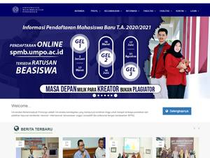 Universitas Muhammadiyah Ponorogo's Website Screenshot