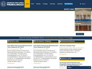 Universitas Panca Marga's Website Screenshot