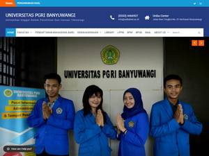 Universitas PGRI Banyuwangi's Website Screenshot