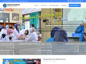 Universitas PGRI Ronggolawe's Website Screenshot
