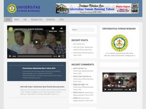 Universitas Sunan Bonang's Website Screenshot