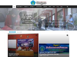 Universitas WR Supratman's Website Screenshot