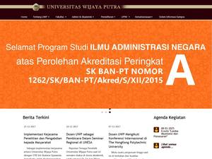 Universitas Wijaya Putra's Website Screenshot