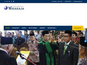 Universitas Wiraraja's Website Screenshot