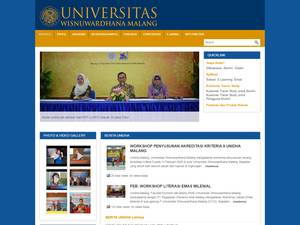 Universitas Wisnuwardhana Screenshot
