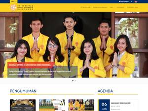 Universitas Hindu Indonesia's Website Screenshot