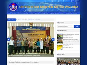 Universitas Kristen Artha Wacana's Website Screenshot