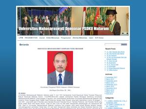 Universitas Mahasaraswati Mataram's Website Screenshot