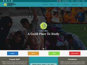 Universitas Muhammadiyah Mataram's Website Screenshot