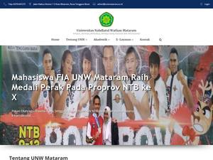 Universitas Nahdlatul Wathan's Website Screenshot