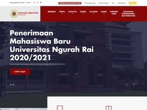 Universitas Ngurah Rai's Website Screenshot