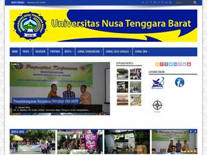 Universitas Nusa Tenggara Barat's Website Screenshot