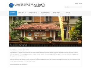 Universitas Panji Sakti's Website Screenshot