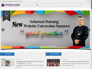 Universitas Samawa's Website Screenshot