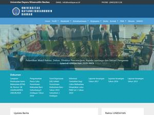 Universitas Dayanu Ikhsanuddin's Website Screenshot