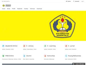 Universitas Gorontalo's Website Screenshot