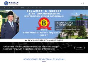 Universitas Ichsan Gorontalo's Website Screenshot