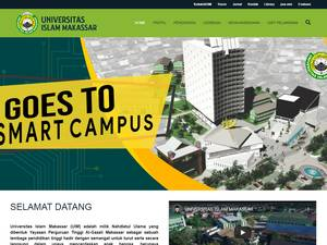 Universitas Islam Makassar's Website Screenshot