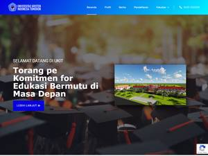 Universitas Kristen Indonesia Tomohon's Website Screenshot