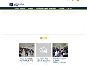 Universitas Internasional Batam's Website Screenshot