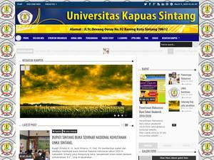 University of Kapuas Sintang's Website Screenshot