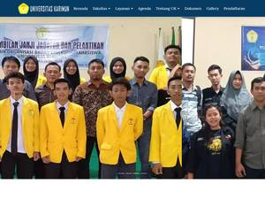 Universitas Karimun's Website Screenshot