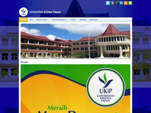 Universitas Kristen Papua's Website Screenshot