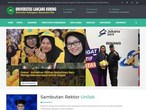 Universitas Lancang Kuning's Website Screenshot