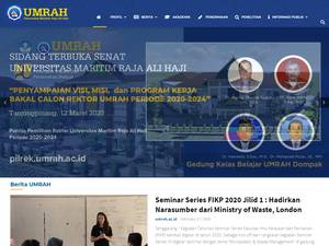 Universitas Maritim Raja Ali Haji Screenshot