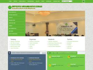 Universitas Muhammadiyah Kendari's Website Screenshot