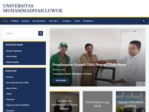 Universitas Muhammadiyah Luwuk Banggai's Website Screenshot