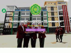 Universitas Muhammadiyah Palangkaraya's Website Screenshot