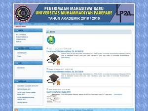 Universitas Muhammadiyah Parepare's Website Screenshot