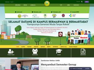 Universitas Muhammadiyah Riau's Website Screenshot