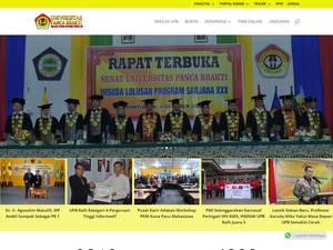 Universitas Panca Bhakti's Website Screenshot