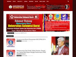 Universitas Sulawesi Barat's Website Screenshot