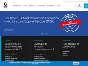 Grenoble École de Management's Website Screenshot